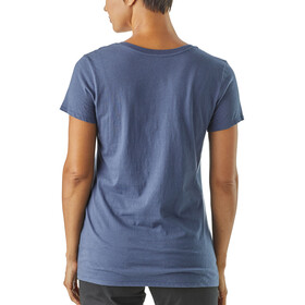 Patagonia Harvest Haul Organic V-Neck T-Shirt Women Dolomite Blue